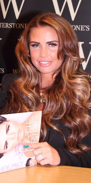 Katie Price signs copies of her new autobiography, 'Love, Lipstick and Lies' in Waterstones, 2 Nov 2013