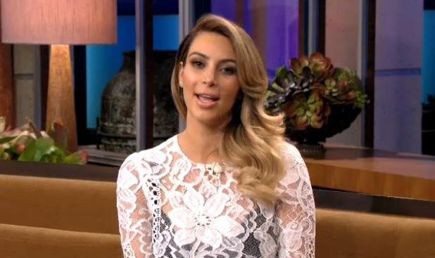 Kim Kardashian appears on the Jay Leno show - 30 October 2013