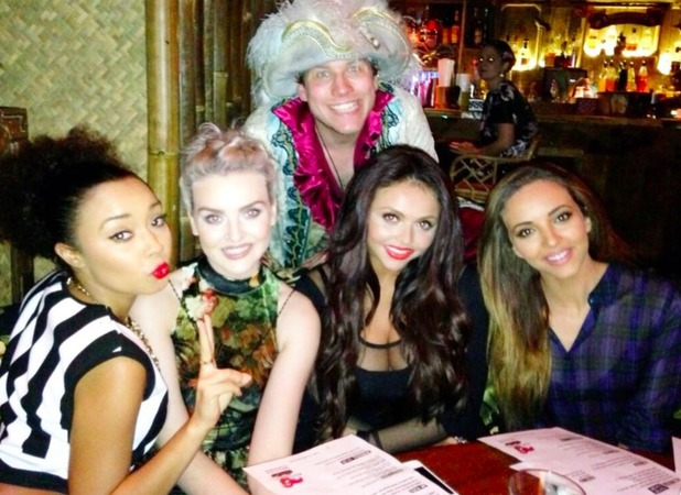 Little Mix members Jesy Nelson, Jade Thirlwall, Leigh Anne Pinnock and Perrie Edwards enjoy a night out at London's Mahiki, Nov 1 2013