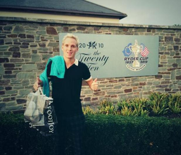Made In Chelsea's Jamie Laing pictured at the Celtic Manor Resort - 5.10.2013