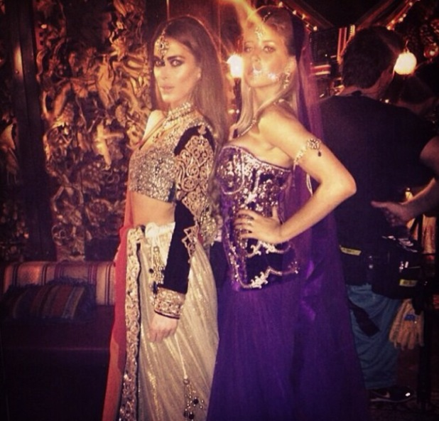 Made In Chelsea's Victoria Baker Harber and Phoebe Lettice-Thompson wearing Indian outfits on Bollywood themed episode of the show - 28.10.2013