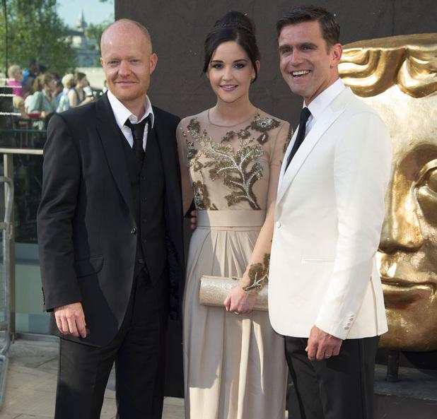 BAFTA British Academy Television Awards, London, Britain - 27 May 2012 Jake Wood, Jacqueline Jossa and Scott Maslen