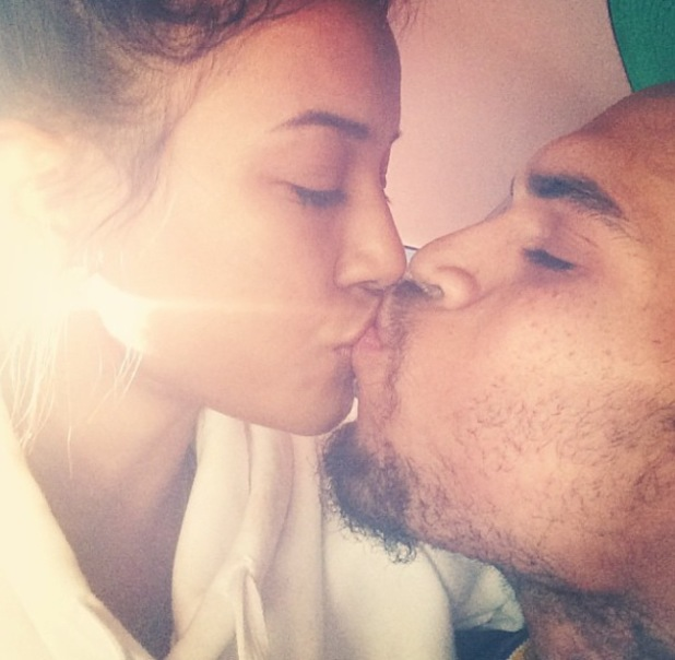 Chris Brown and Karrueche Tran share a kiss amid reports the singer is in rehab - 29.10.2013