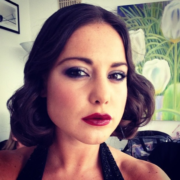 Made In Chelsea's Louise Thompson rocks smoky eyes and vino lips - Instagram, 29 October 2013.