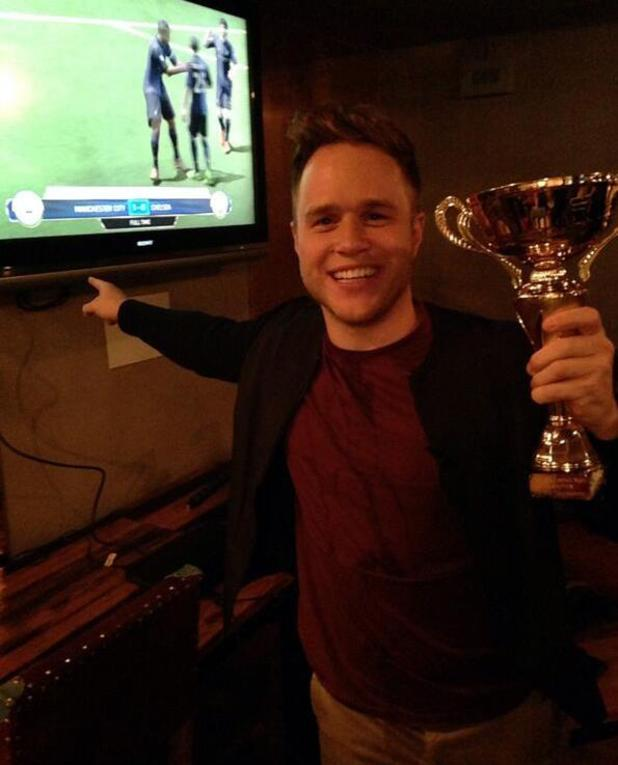 Olly Murs during his Football Night Out