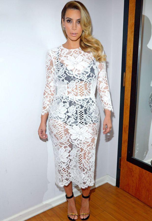 Kim Kardashian Backstage at 'The Tonight Show with Jay Leno', Los Angeles, America - 30 Oct 2013