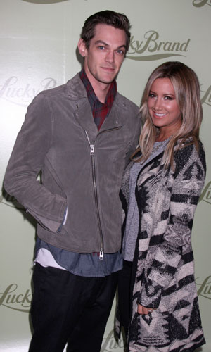 Ashley Tisdale and Christopher French attend Lucky Brand flagship store opening benefiting The Art of Elysium in Beverly Hills - Arrivals, 29 October 2013