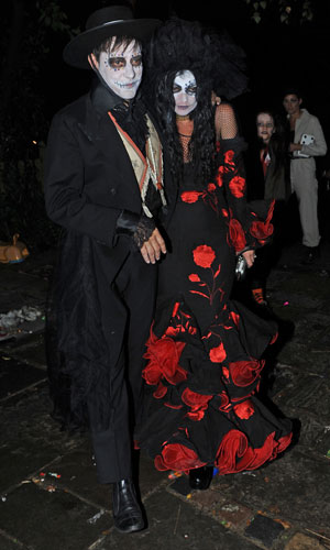 Kate Moss, Jamie Hince at Jonathan Ross' Halloween 2013 party, London, 31 October 2013