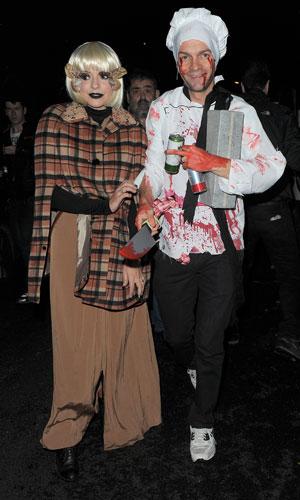 Holly WIlloughby, Dan Baldwin at Jonathan Ross' Halloween 2013 party, London, 31 October 2013