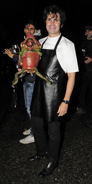 Jimmy Carr at Jonathan Ross' Halloween 2013 party, London, 31 October 2013