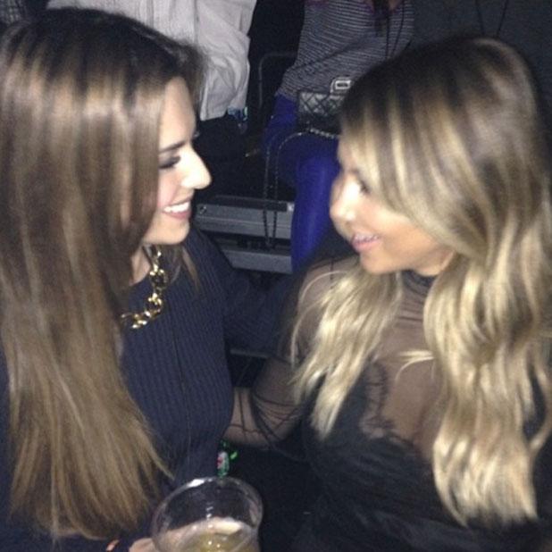 Cheryl Cole and Kim Kardashian hang out at Kanye West concert in LA, 26 October 2013
