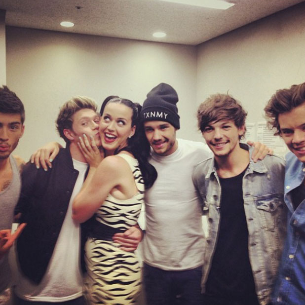 Katy Perry hangs out with One DIrection in Tokyo, 1 November 2013