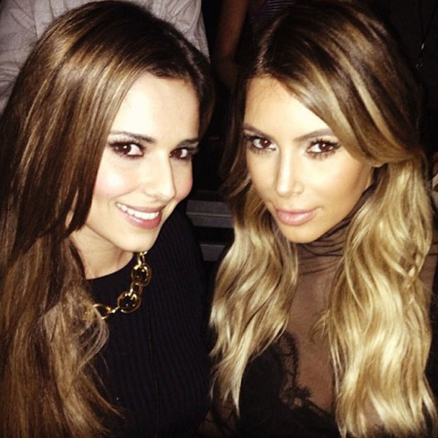 Cheryl Cole and Kim Kardashian hang out at Kanye West concert in LA, 26 October 2013