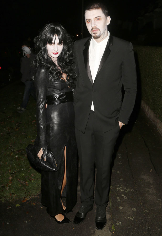 Millie Manderson and Professor Green at Jonathan Ross' Halloween 2013 party, London, 31 October 2013