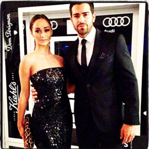 Jesse Metcalfe and Cara Santana at the TWO x TWO gala for AmFar and Dallas Museum of Art together. 27 October 2013
