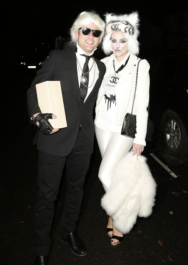 Dermot O'Leary and wife Dee at Jonathan Ross' Halloween 2013 party, London, 31 October 2013