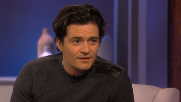 Orlando Bloom appearing on Katie Couric's chatshow, to air 1 November 2013