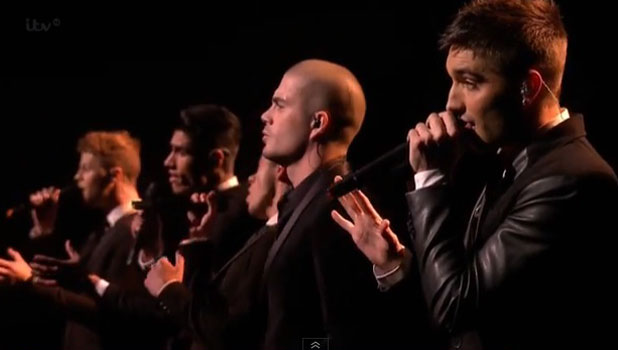 The Wanted during X Factor appearance, 27 October 2013