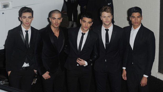 The Wanted outside ITV studios after their X Factor appearance, 27 October 2013