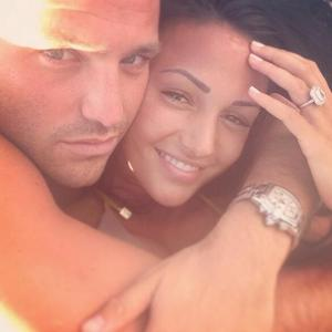 Michelle Keegan posts snap with fiancé Mark Wright, which appears to have been taken on holiday - 8.11.2013