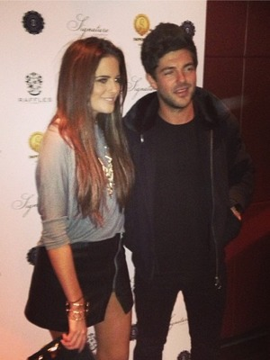 Binky Fekstead and new boyfriend Alex Mytton pose for snaps at Raffles, 7.11.13