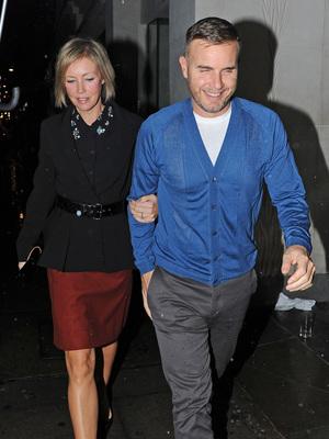 Gary Barlow and his wife arrive at Nobu restaurant, November 13