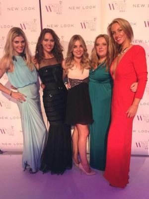 Josie Gibson parties with Hayley Sparkes at New look Winter Wishes Ball, 6.11.13