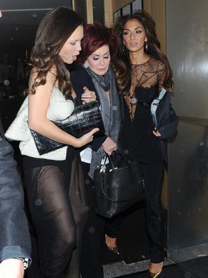 Sharon Osbourne and Nicole Scherzinger leave Nobu, November 13
