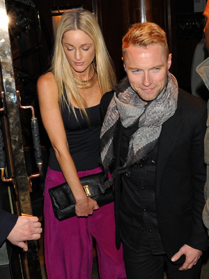 Ronan Keating with Storm Uechtritz at the The Ivy, 5.11.13