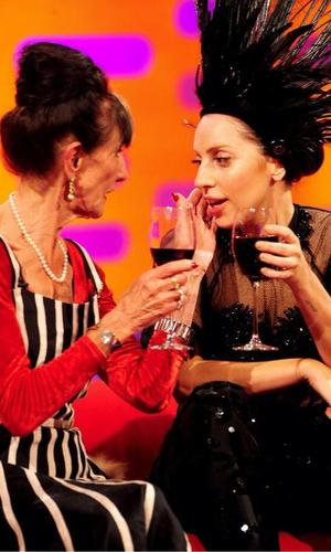 Lady Gaga and June Brown backstage on BBC One's The Graham Norton Show