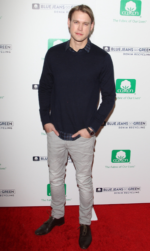 Chord Overstreet attends Blue Jeans Go Green party at Skybar At Mondrian Hotel in West Hollywood, Nov 13.