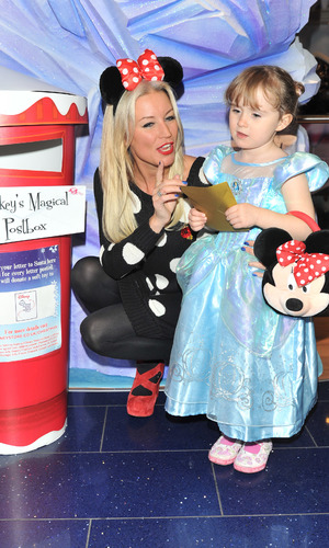 Denise Van Outen and daughter Betsy at the Disney Store party, 6.11.13