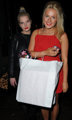 Helen Flanagan goes out in Manchester to Akbars for her sister Jessica's 21st Birthday, 6.11.13