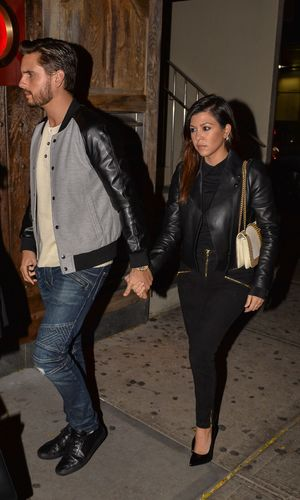 Kourtney Kardashian and Scott Disick out and about in New York, America - 04 Nov 2013