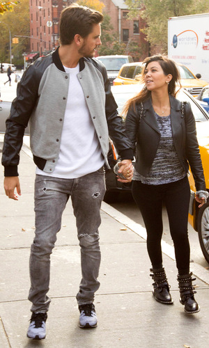 Kourtney Kardashian and Scott Disick out and about in New York, America - 05 Nov 2013