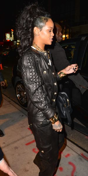 Rihanna wears top to toe leather in New York - 08 Nov 2013