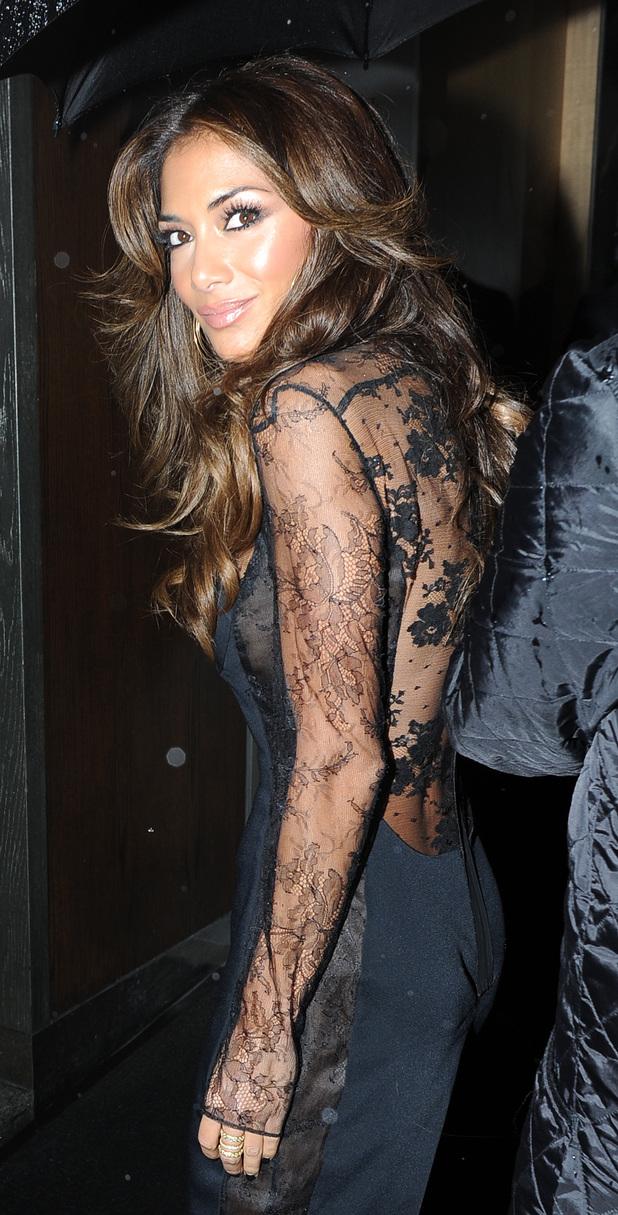 Nicole Scherzinger eats at Nobu, London after X Factor on 3.11.13