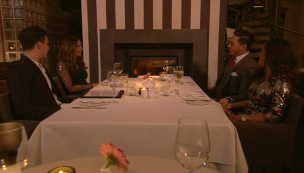 Mario Falcone and girlfriend Pascal Craymer go on a double date with Ferne McCann and Charlie Sims on The Only Way Is Essex - TOWIE (Episode: 10 November 2013)