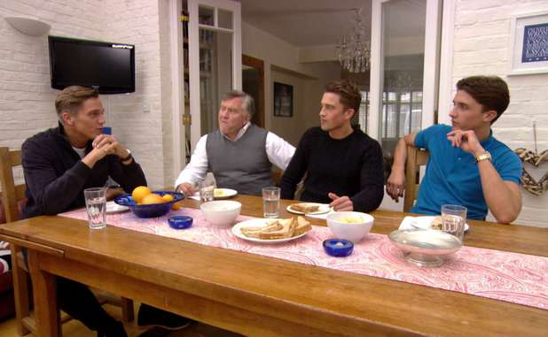Lewis Bloor introduces his family. The Only Way Is Essex / TOWIE - 6 November 2013.