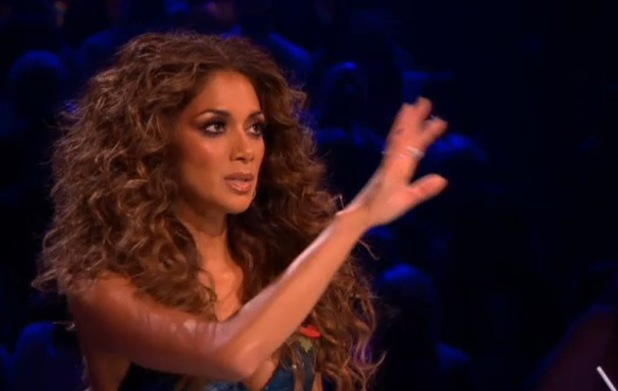 Nicole Scherzinger on The X Factor on 2 November 2013