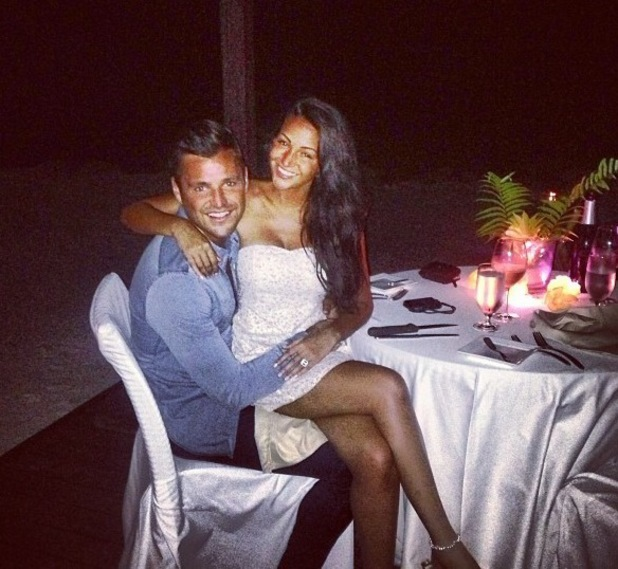 Mark Wright and his fiancée Michelle Keegan on holiday (7 November).