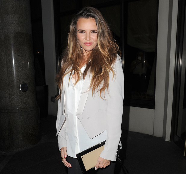 Nadine Coyle leaving the Nordoff Robbins Boxing Dinner, held at the Lancaster Hotel. 10/07/2013