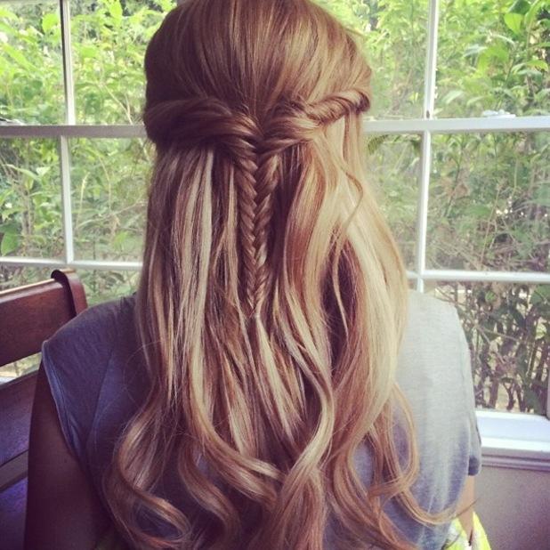 Bella Thorne shows off pretty fishtail braid on Instagram - 7 November 2013