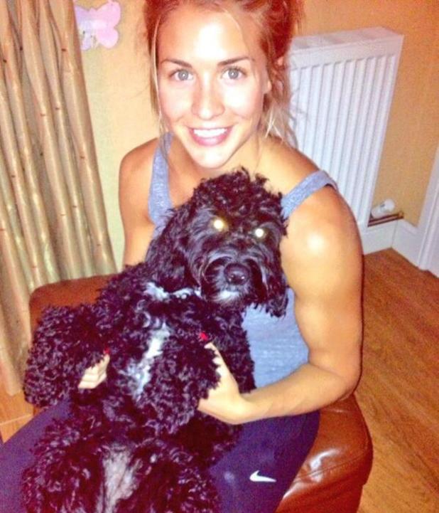 Gemma Atkinson and her pet dog Norman - 2013