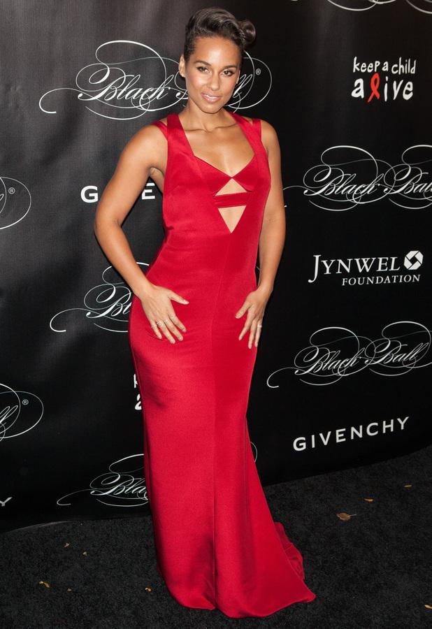 Alicia Keys at the Keep A Child Alive 10th Annual Black Ball at Hammerstein Ballroom, New York, 7 November 2013