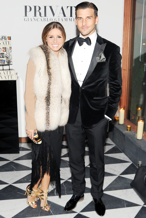 Olivia Palermo and Johannes Huebl at the W Magazine cocktail party to celebrate new book 'Private: Giancarlo Giammetti', New York, America - 04 Nov 2013