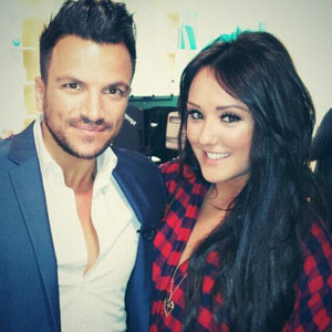 This Morning' TV Programme, London, Britain - 05 Nov 2013 Charlotte Crosby poses with Peter Andre