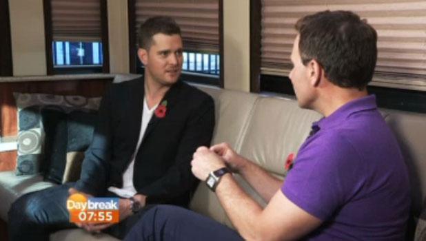 Michael Buble appears on Daybreak, 6 November 2013