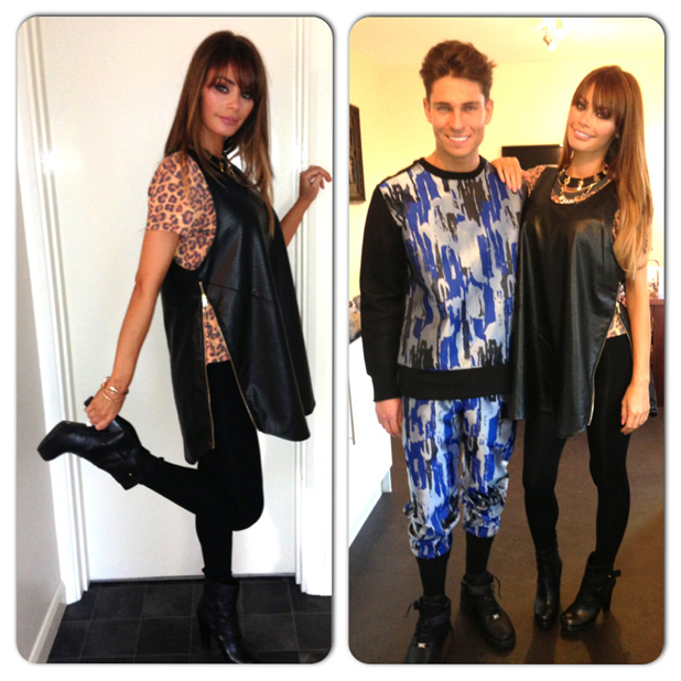 TOWIE's Chloe Sims fashion blog: Outfit one - Shopping swag (8 November 2013)