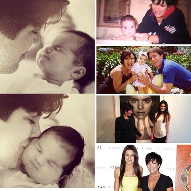 Kendall  Jenner marks mum Kris' 58th birthday with collage of pictures, 5 November 2013